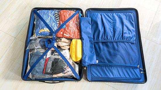 suitcase organized
