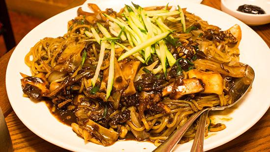 china black bean spaghetti