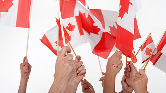 CanadaDayFlags