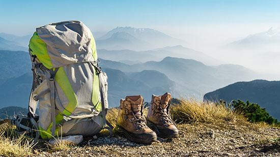 backpack hiking