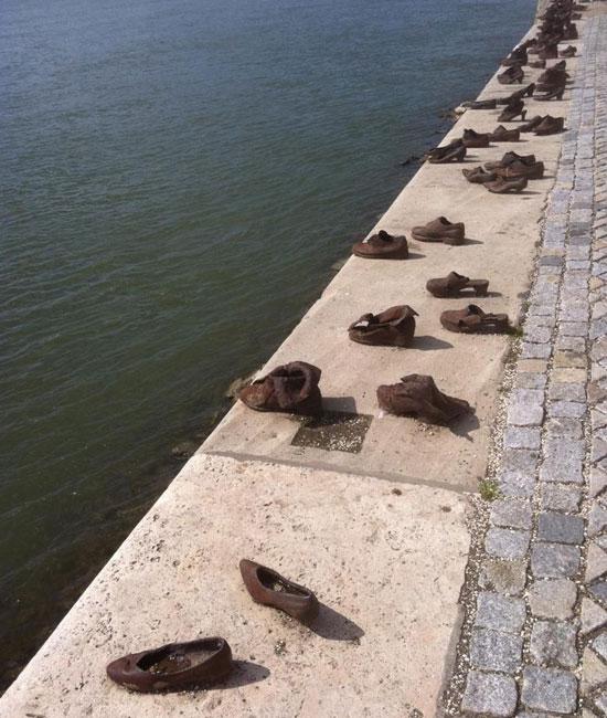 Shoes on Danube Promenade