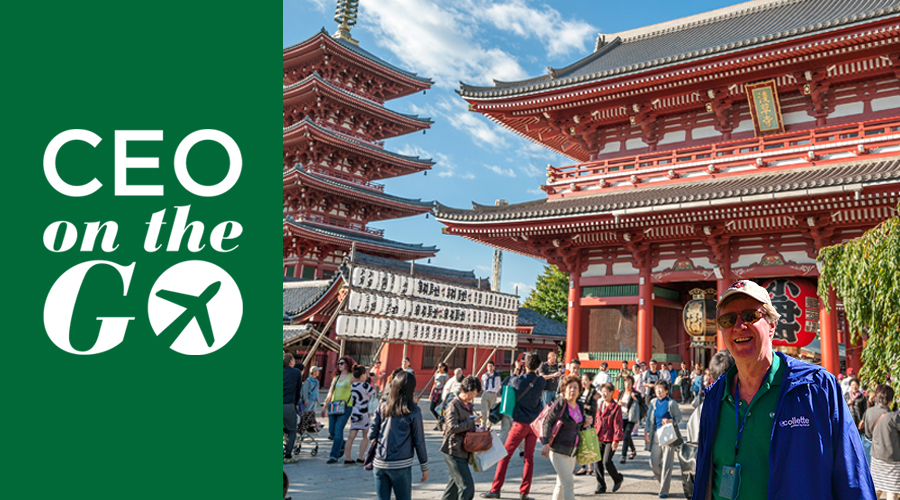 Suzanne in front of Senso ji Buddhist Temple   Tokyo preview
