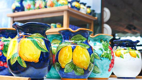 ceramics amalfi coast