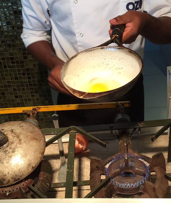 7preparing egg hopper Sri Lanka
