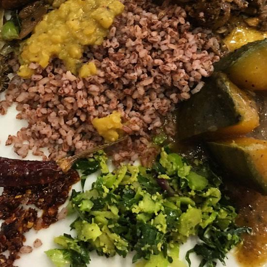 5Mallum salad and red rice