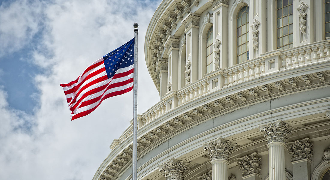 American Flag Capitol Building
