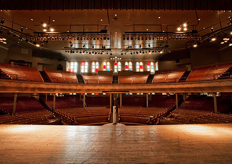 Ryman from the stage - Tennessee - Collette