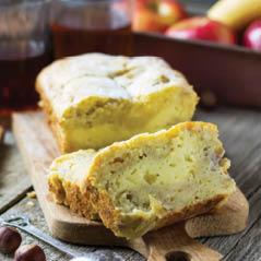 banana bread with cream