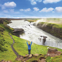 Tourist Gullfoss Waterfall 68987422 AdobeStockRF