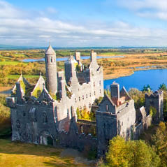 Dromore Castle Limerick Ireland  AdobeStock 168443804