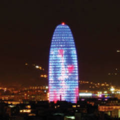 Torre Agbar Barcelona spain AdobeStock 74687512