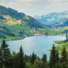 Schwarzee Lake Switzerland AdobeStock 89175157