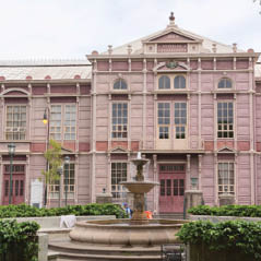 metallic building