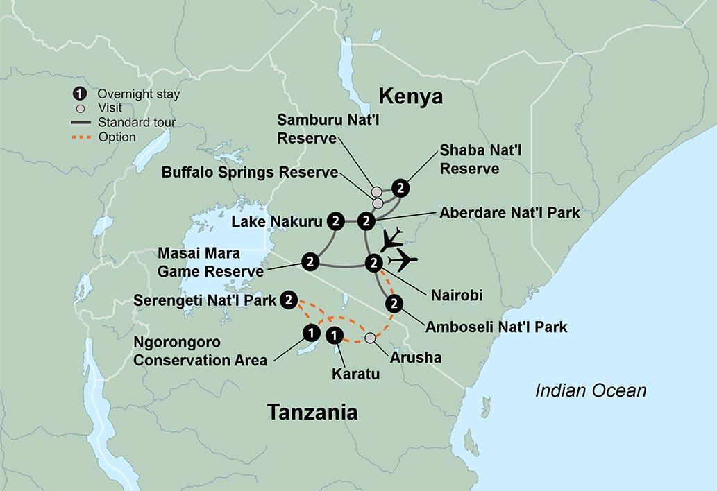Serengeti Plain On Map Of Africa.The Plains Of Africa Kenya Wildlife Safari Travel Tours Collette