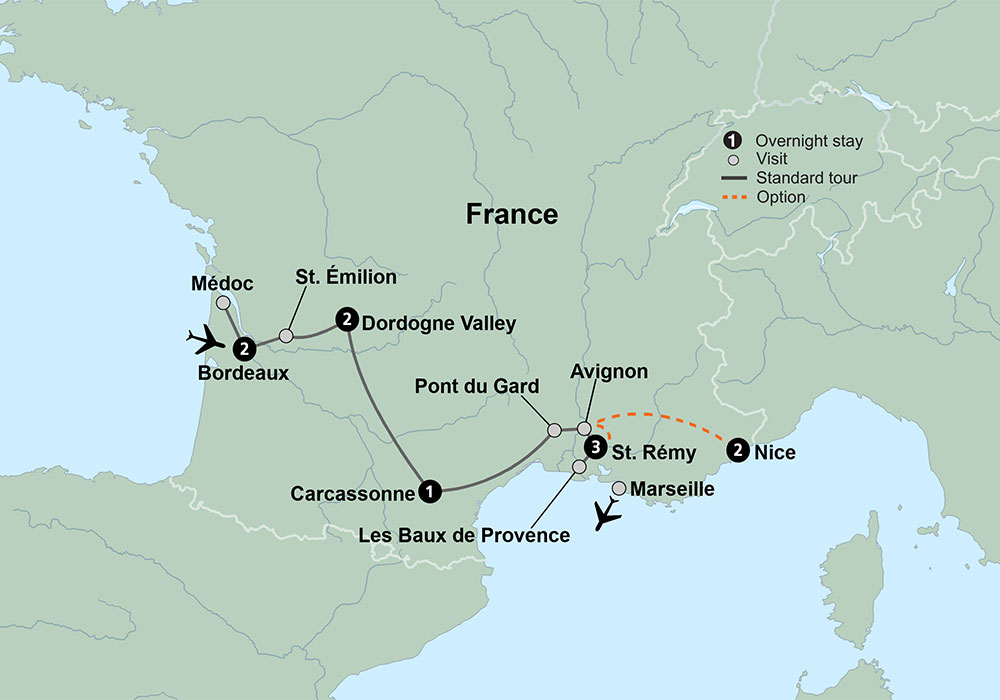 Journey through Southern France from Bordeaux to Provence Travel