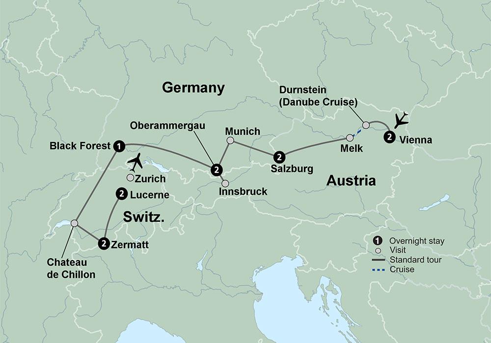 Germany Austria Switzerland Itinerary Exploring the Alpine