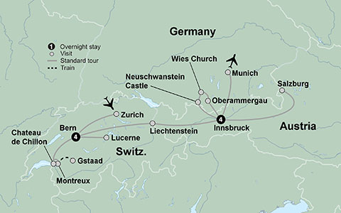 Discover switzerland travel switzerland austria and bavaria tour your tour at a glance discoverswitzerland2016 sciox Images