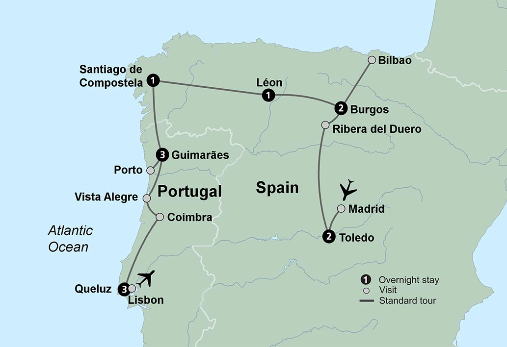 Spain And Portugal Tours Tours Of Portugal Collette - Portugal historical map