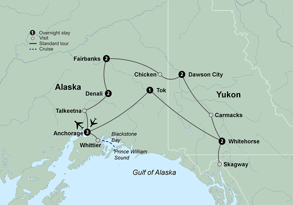 Alaska and The Yukon featuring the Yukon Fairbanks and Denali