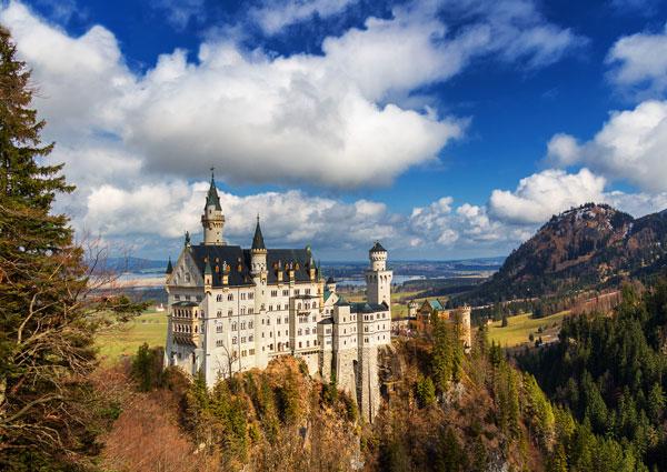 neuschwanstein castle alpine carousel