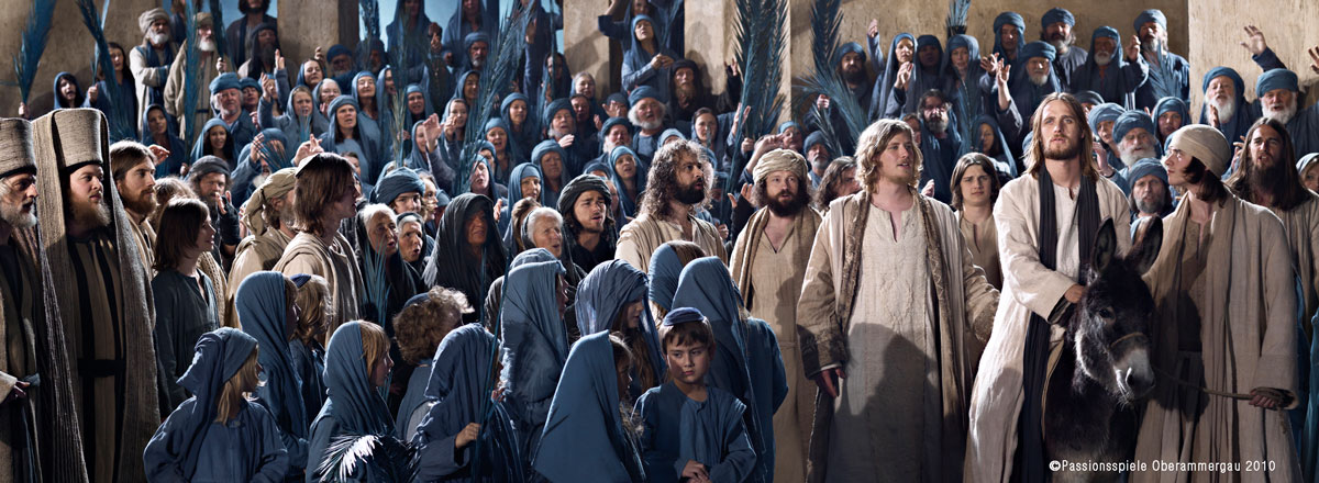 Passion Play jesus crowd hero