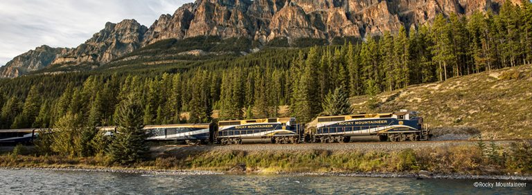 canadian rockies by train rocky mountaineer banner