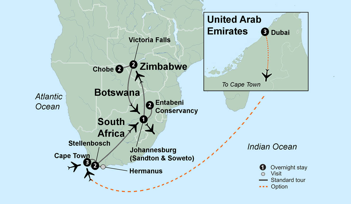Map Of Africa Victoria Falls.Explore South Africa Victoria Falls And Botswana