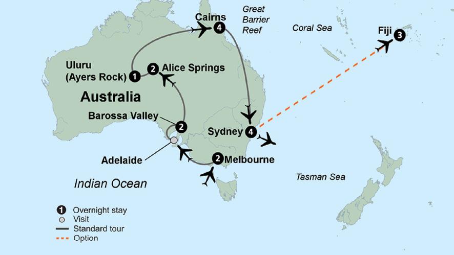 Australia Tour Map.Explore Australia Australia Trip Collette
