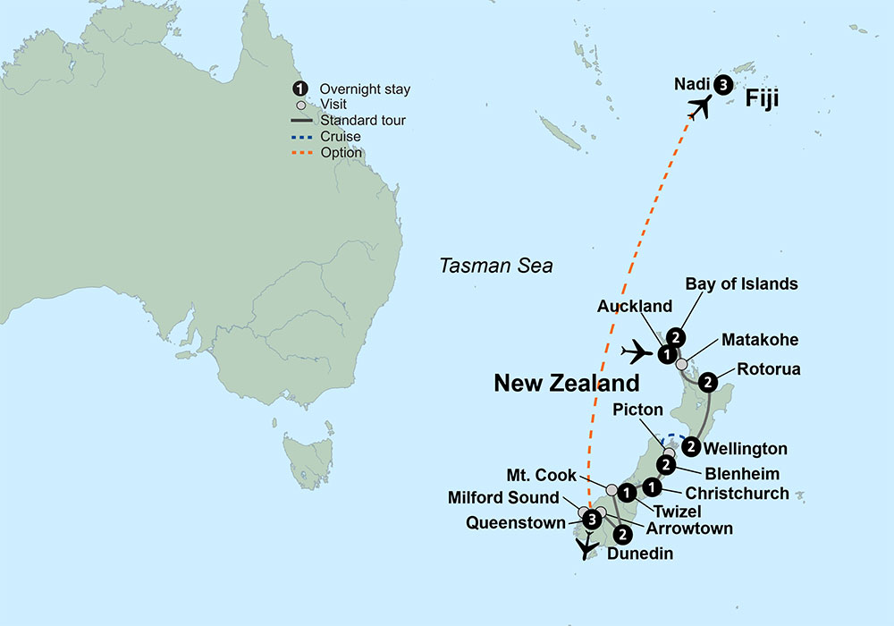 New Zealand Tourist Map North Island.Visit New Zealand Explore New Zealand Collette