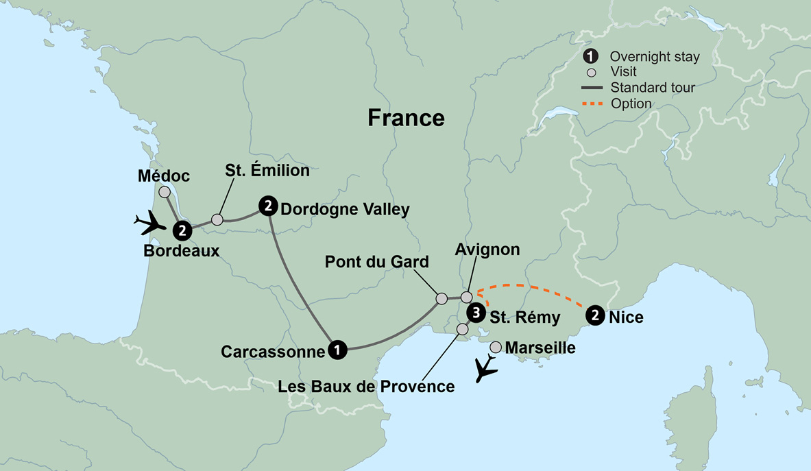 South Of France Map Detailed.Touring Southern France And South Of France Destinations