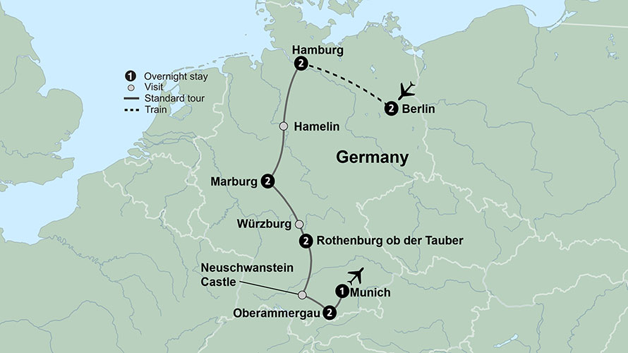 Germanys Cultural Cities with Oberammergau (13 Days, Standard)