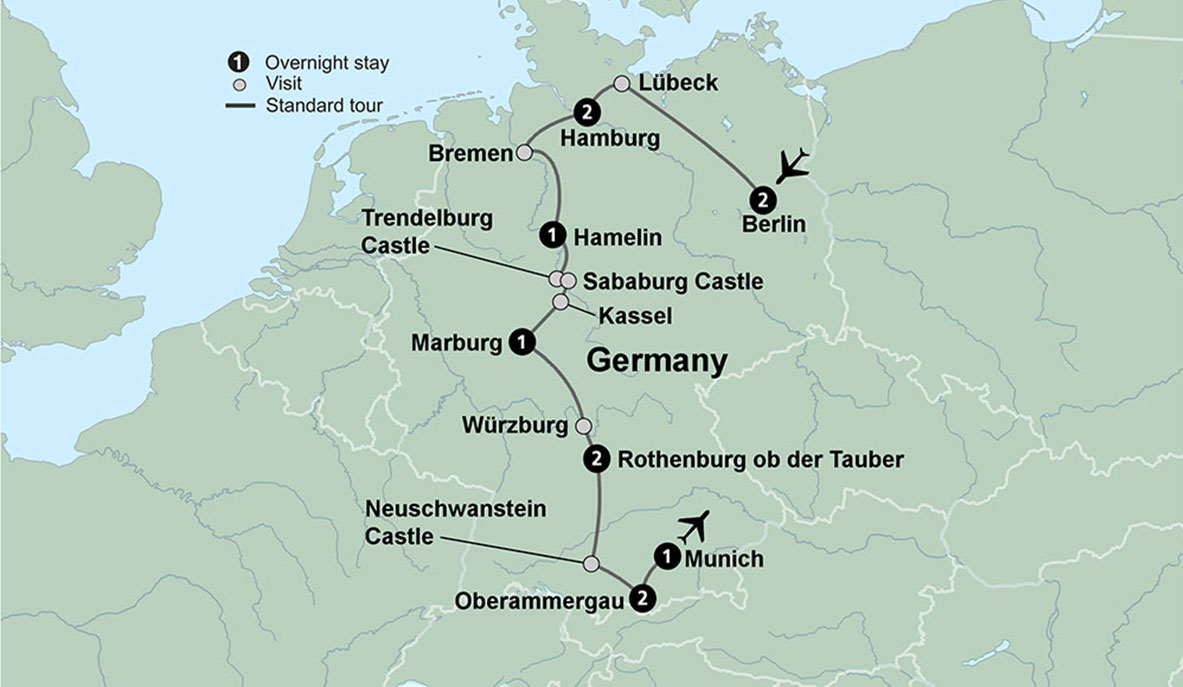 Oberammergau Germany Map.Germany S Cultural Cities The Romantic Road With Oberammergau