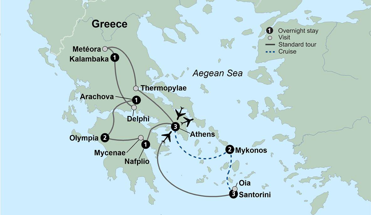 Exploring Greece And Its Islands Mykonos And Santorini