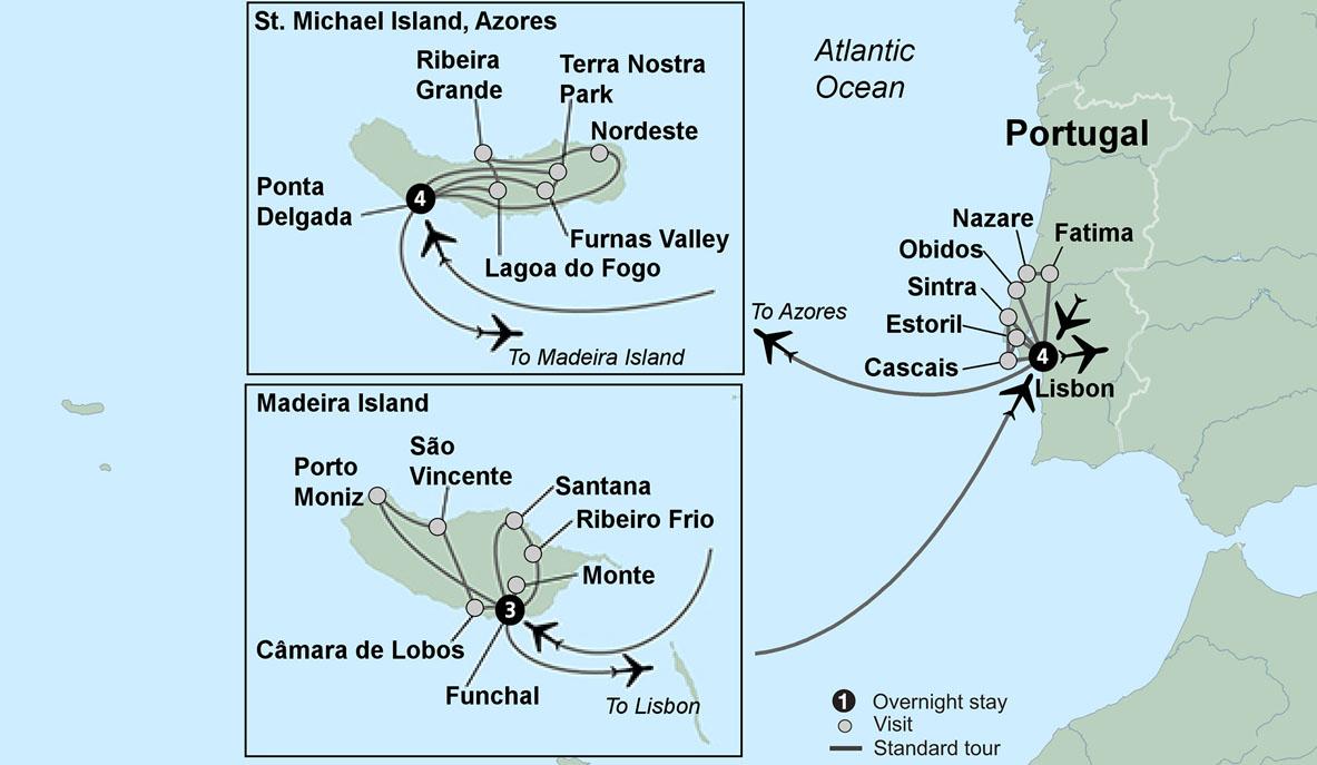 Portugal Travel Tours | Estoril Coast, Azores and Madeira
