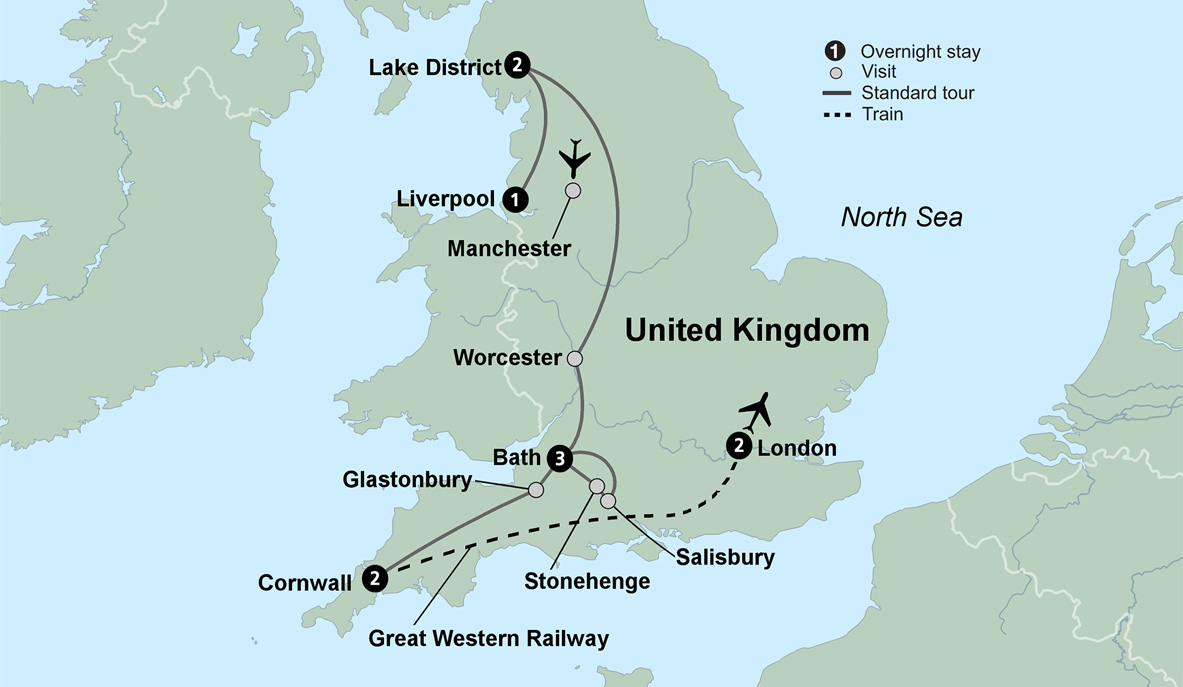 Map Of England Liverpool.Trip To England England Itinerary Collette
