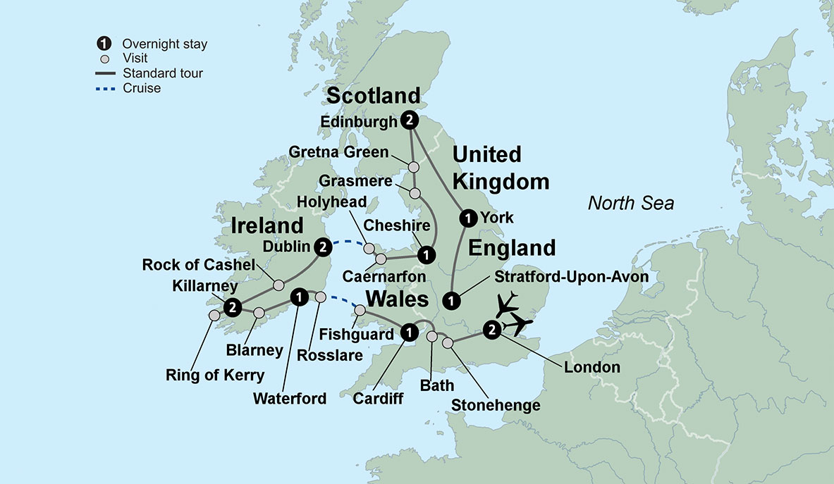 Map Of England Ireland And Scotland.England Ireland Scotland Tours Uk Tour Package With Collette