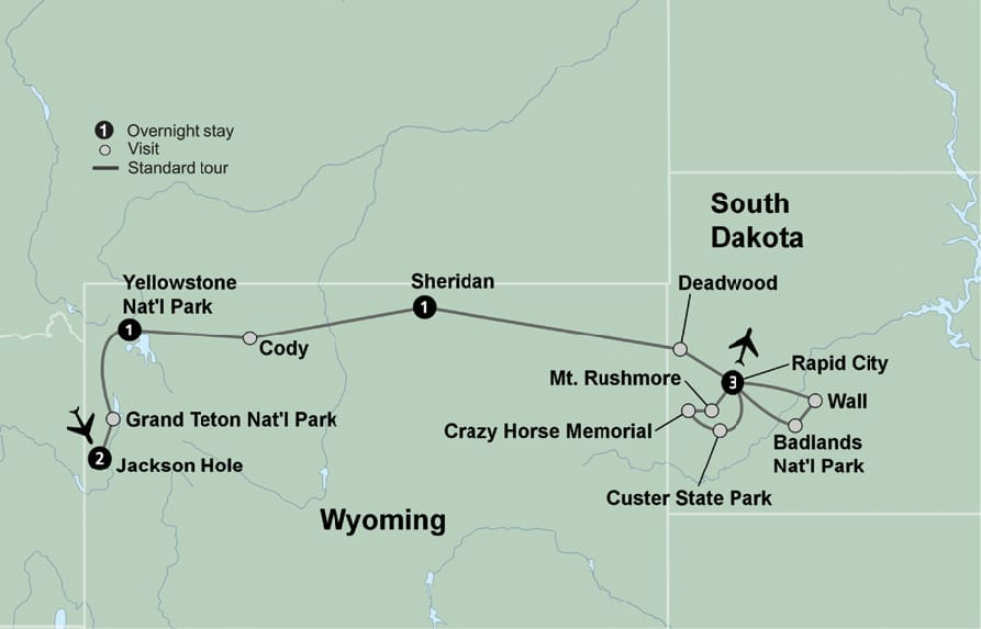 Badlands Wyoming Map.South Dakota Vacation Travel Wyoming America S Cowboy Country