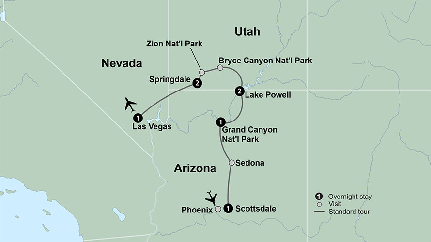 Grand Canyon Trips with Zion and Bryce   Collette