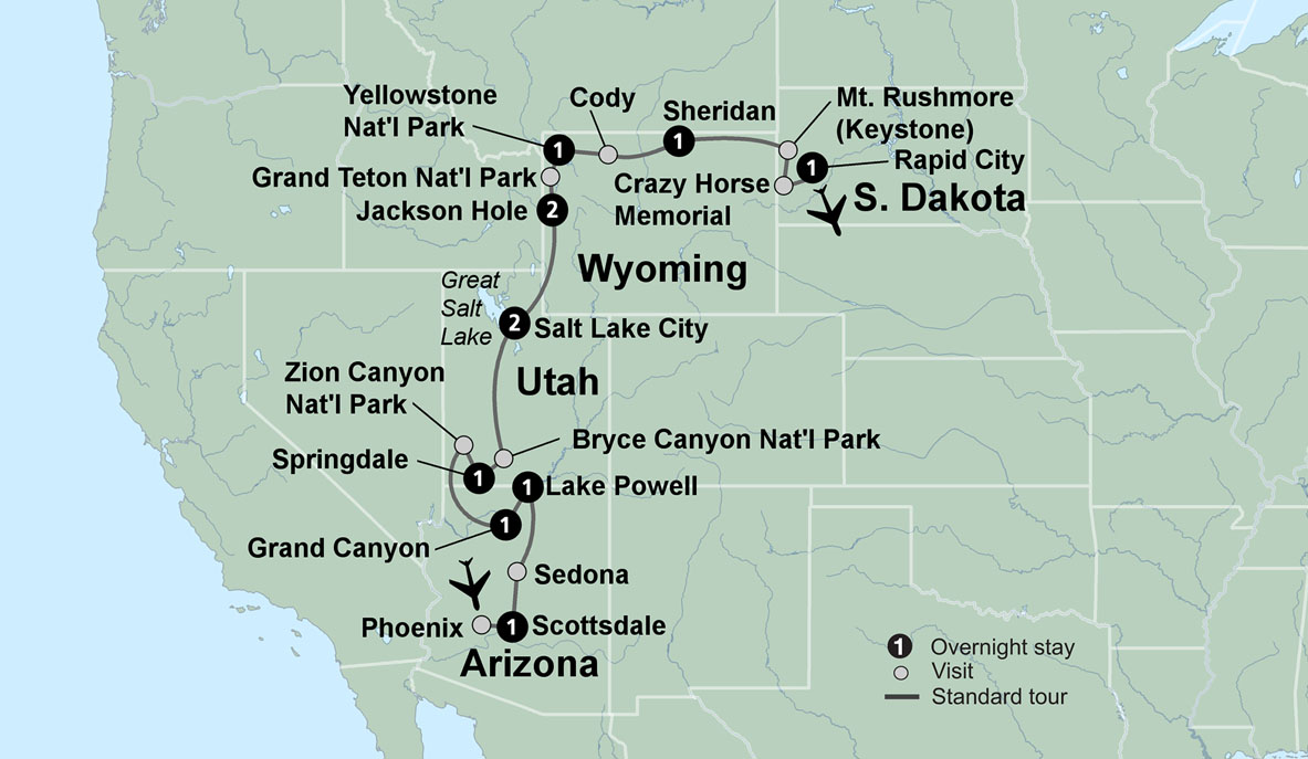 Map Of Arizona With National Parks.National Parks Of America National Parks Trips Collette